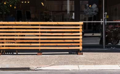 Patio Fence for Revolution Rotisserie Restraunt