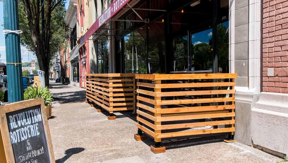 Cedar Patio Fence